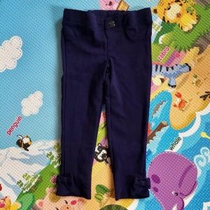 🆕 3/$20 Gymboree | navy stretchy pants w/ bows 3T